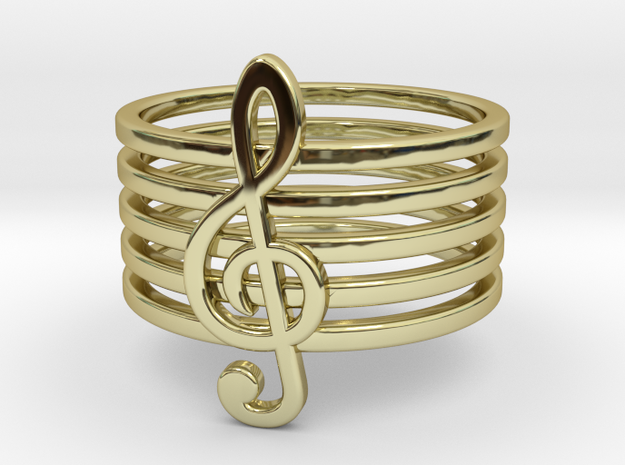 Treble Clef Ring 3d printed