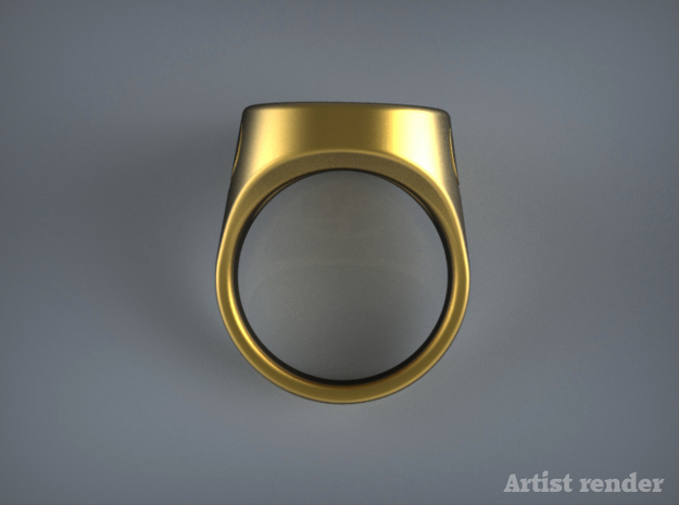 Quake Live Excellent Award ring. 3d printed