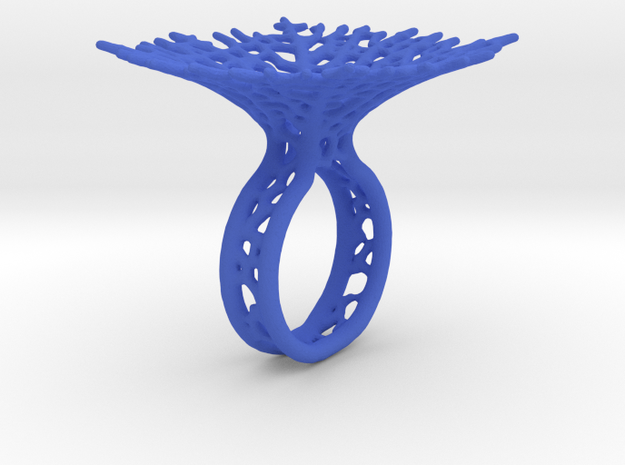 Hyphae Ring 3d printed