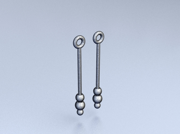 Three Orbs - Earrings 3d printed