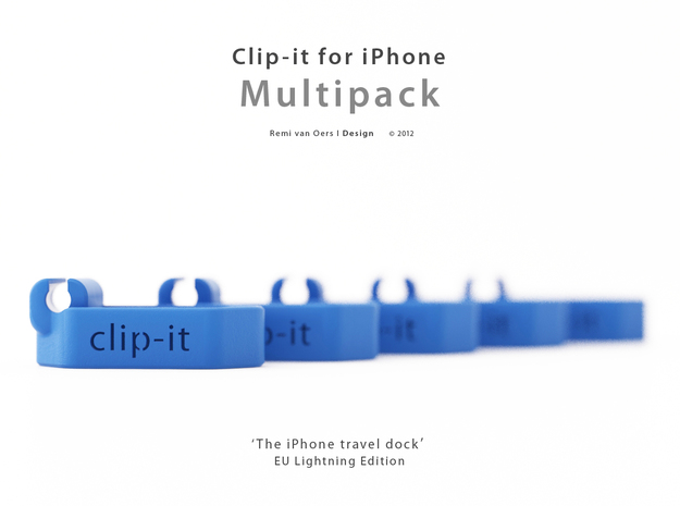 Multipack x10 Clip-it EU Lightning edition 3d printed