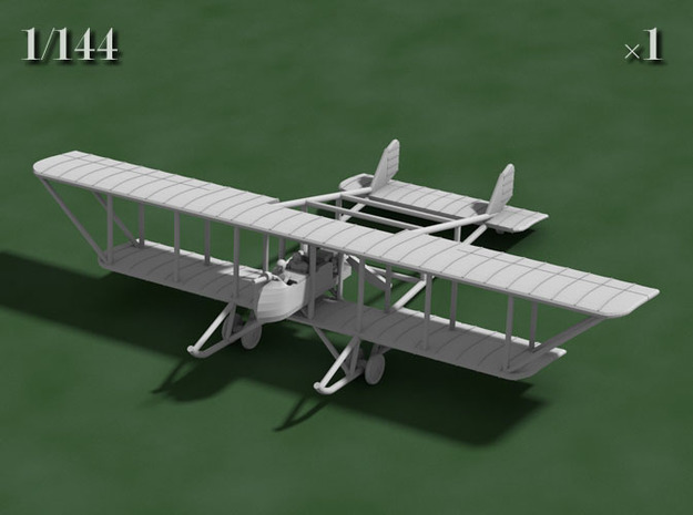 """1/144 Maurice Farman MF.11 """"Shorthorn"""" 3d printed Computer render of the actual model"""