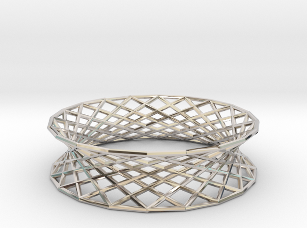 Hyperboloid Doubly-Ruled Structure Bracelet 3d printed