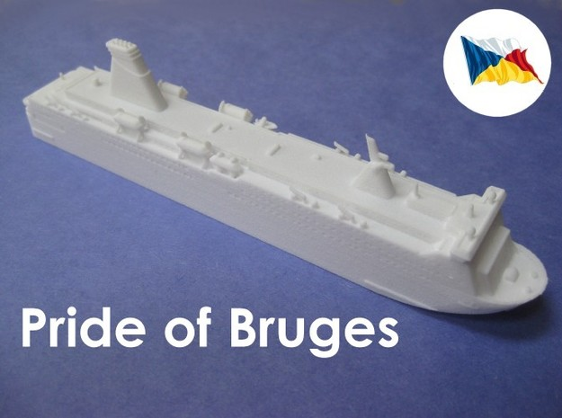MS Pride of Bruges (1:1200) 3d printed