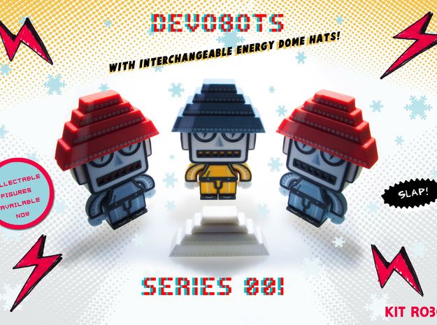 DevoBot Series 1 yellow bio suit Bob1 3d printed