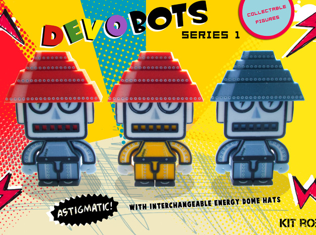 DevoBot Series 1 B/W with Red Energy Dome : Mark M 3d printed