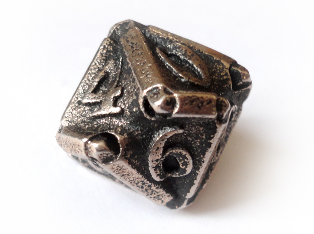 Stretcher Die10 3d printed In stainless steel and inked