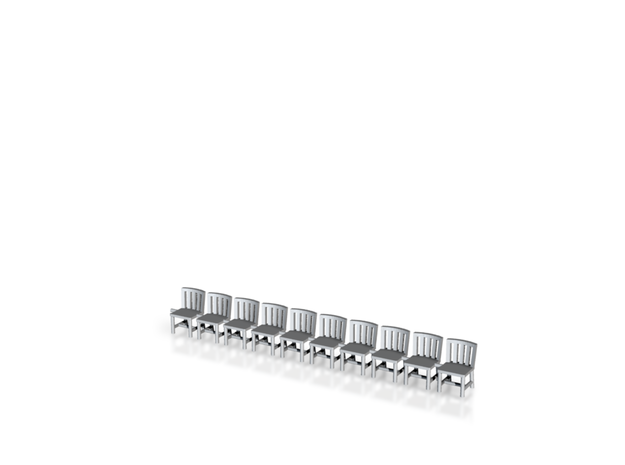 10 Chairs HO Scale 3d printed