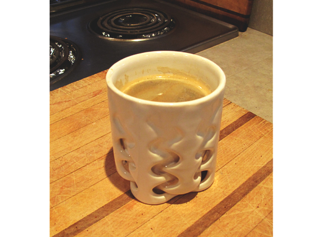 Weave Cup 3d printed Double shot Americano