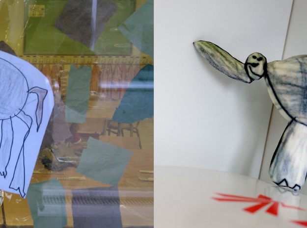 irrelephant 3d printed Figurines from Children's Drawings