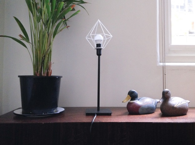 Gem shade 3d printed Attached to Ikea Hema Lamp (E14)