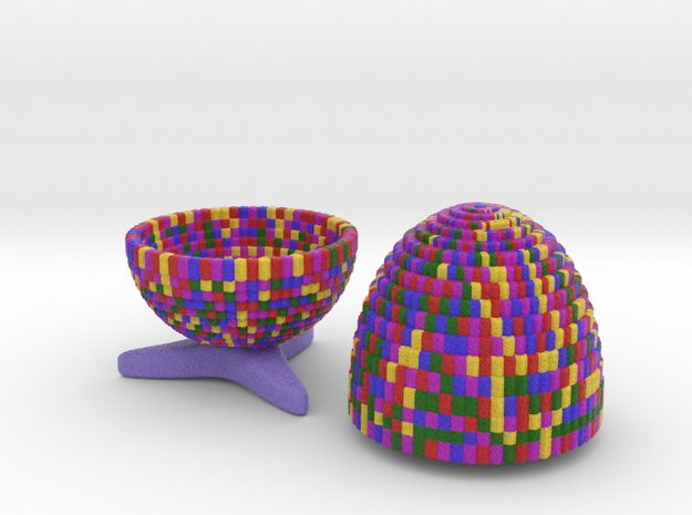 Egg Jewelry Box: Rainbow Mosaic 3d printed
