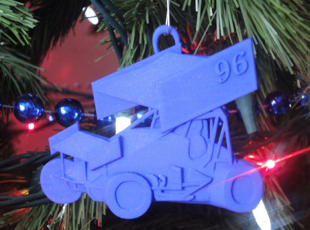 Sprint Car Ornament/Pendant 3d printed Suggested Use