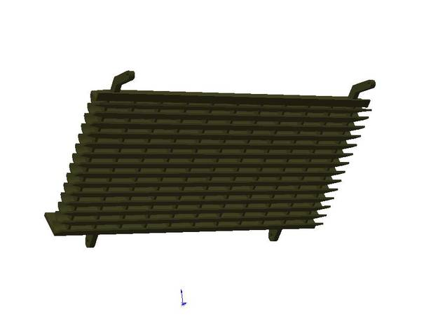 D78458 DEFLECTOR ASSEMBLY 3d printed Representation of model