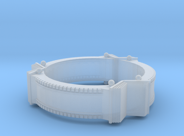 Bookring (size 8.0) 3d printed