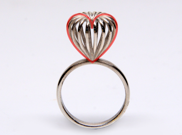 Infinite Love Ring Size 8 3d printed made of hearts ;)