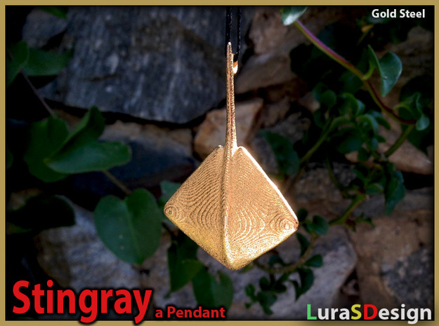 Stingray Pendant 3d printed