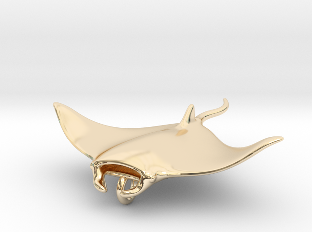 Manta Pendant Head _ small 3d printed