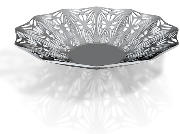 Perforated Bowl with artistic pattern 3d printed