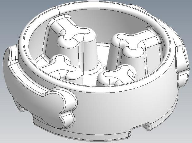 Slow-Feeder Ceramic Dog Bowl 3d printed Top View