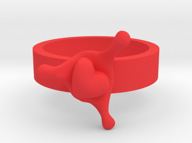 LoveSplash ring size 8 U.S. 3d printed