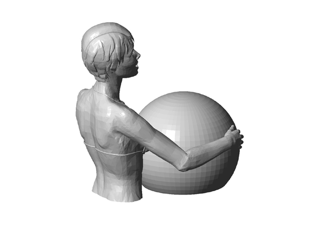 Bathers girl 3d printed back