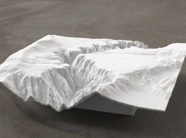 6'' Black Canyon of the Gunnison, CO, WSF 3d printed Radiance rendering