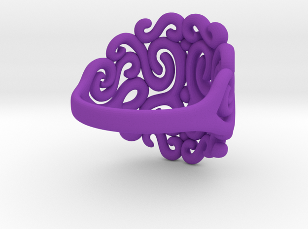 Arabesque Ring 3d printed