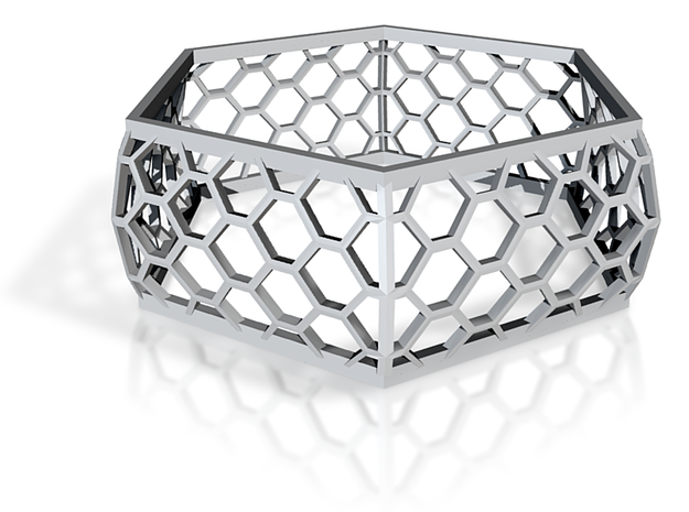 Hexagon Bracelet 3d printed
