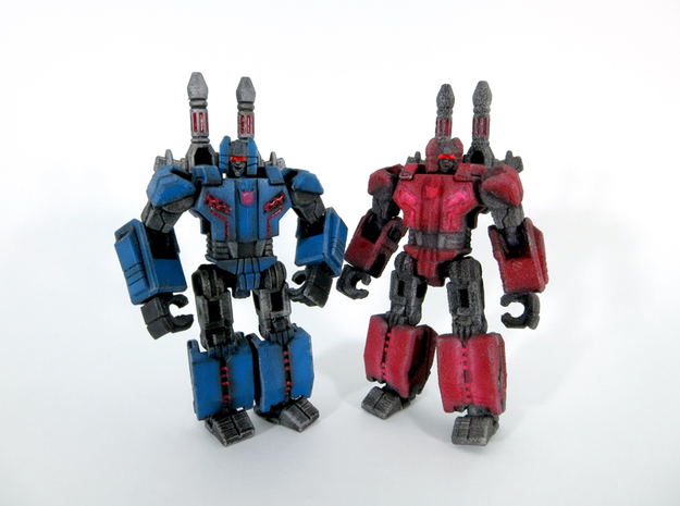 """The Thugmeister """"Fierier"""" 3d printed painted models. FUD left, WSF right"""