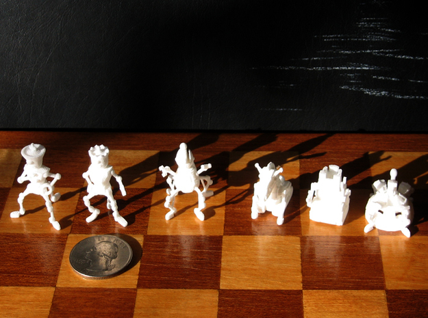 Robo Chess 3d printed WSF prints