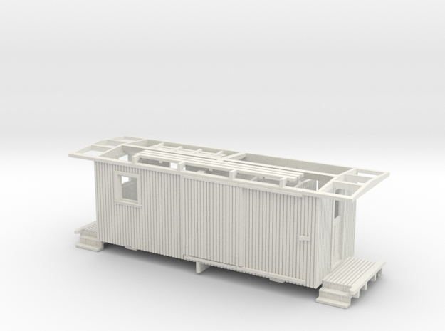 Nevada County NGRR Caboose HOn3 3d printed