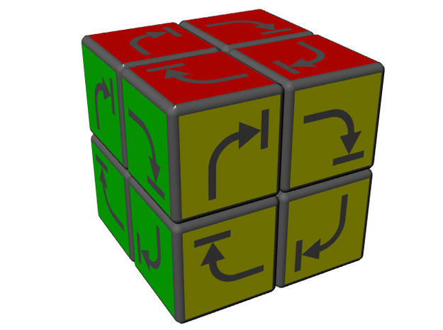 Irreversible Cube 3d printed