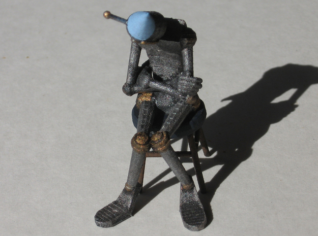 Dunce Robot 3d printed Painted WSF