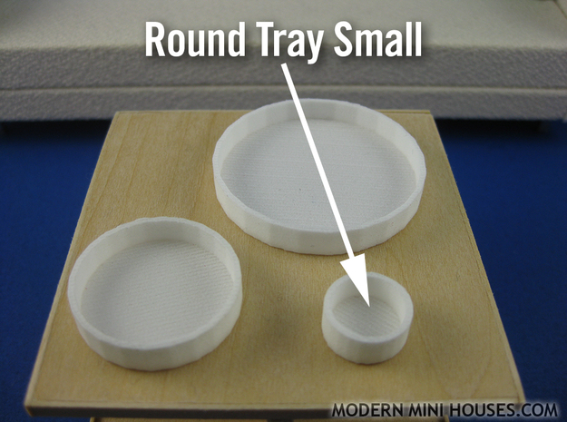 Round Tray Small 1:12 scale 3d printed