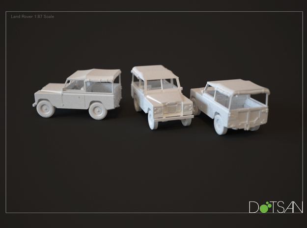 1/48 Scale Land Rover 3d printed Rendering of model