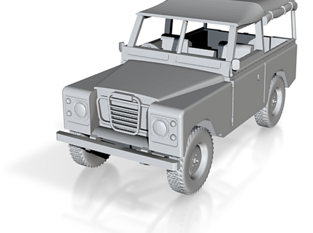 1/76 Scale Land Rover 3d printed
