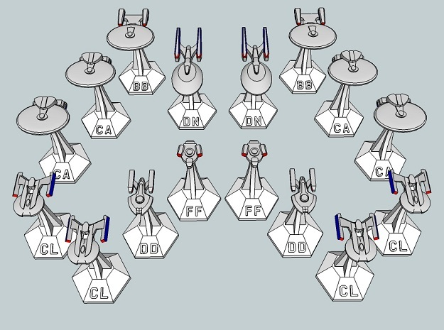 MicroFleet TNG Coalition Heavy Battlegroup (16pcs)