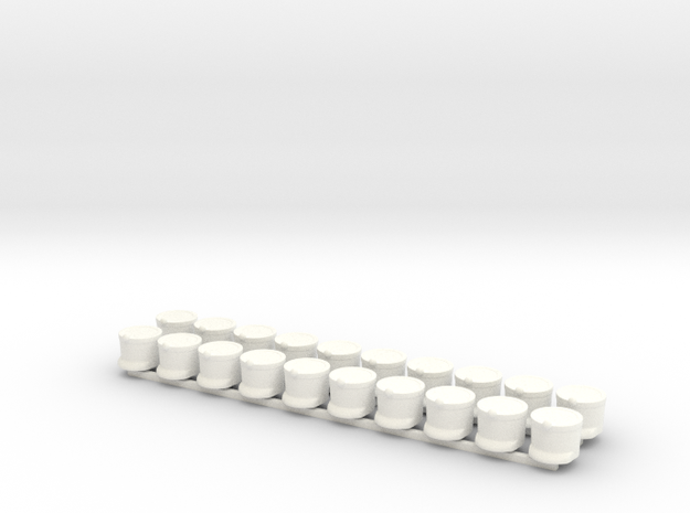 20 x French Shakos 3d printed Render of example usage