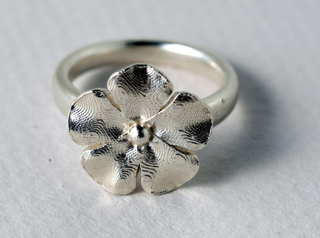 ring flower s48 3d printed