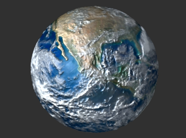 Earth (raised dome model) 3d printed render