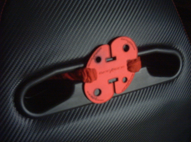 Dx Racer Head Rest Strap Holder 3d printed