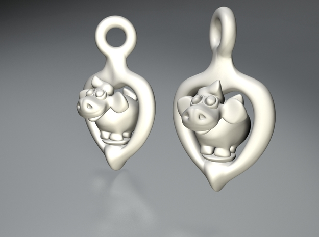 Sheep earrings 3d printed