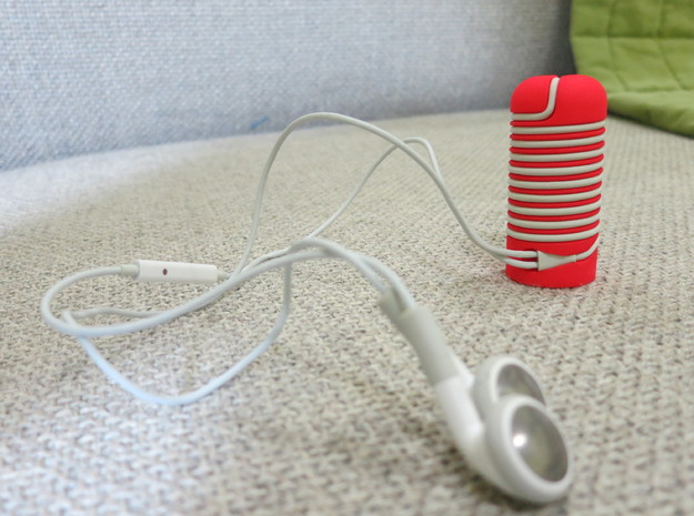 Apple earbuds cord wrapper 3d printed