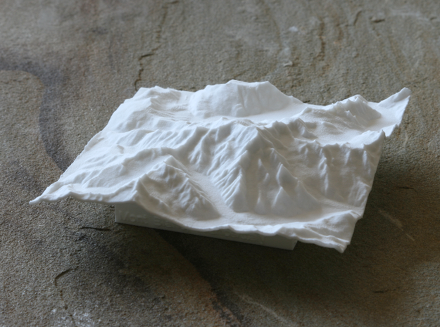 4''/10cm Mt. Blanc, France/Italy 3d printed View of 10cm model of Monto Blanco from Italian side