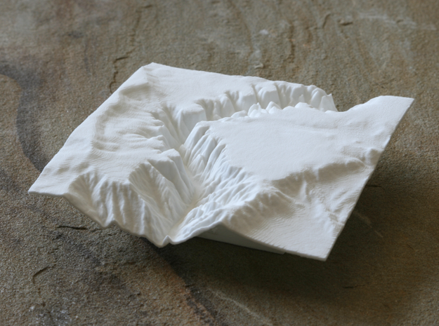 "4'' Black Canyon of the Gunnison, CO, WSF 3d printed Photo of 4"" model looking East"