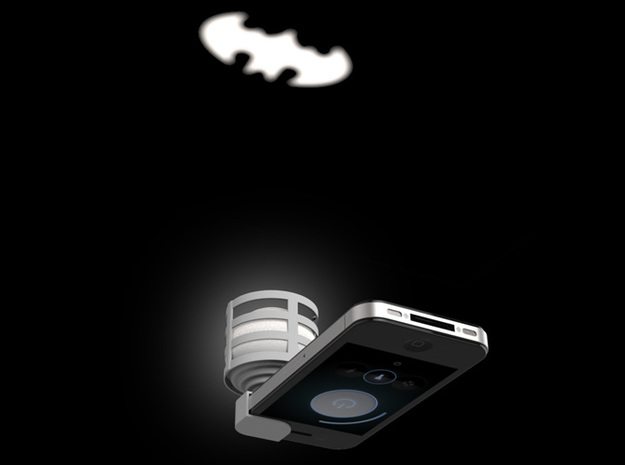 Lightclip: Batman, iPhone 4/4S 3d printed