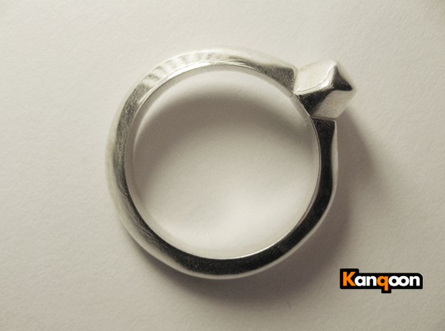 Kurtis - Ring - US 6¾ - 17.12 mm 3d printed Polished Silver printed