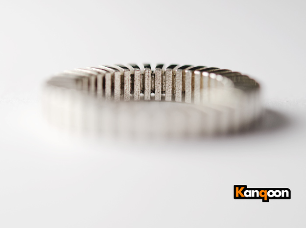 Patrick Tetragon - Ring - US 9 - 19 mm 3d printed Polished Silver printed