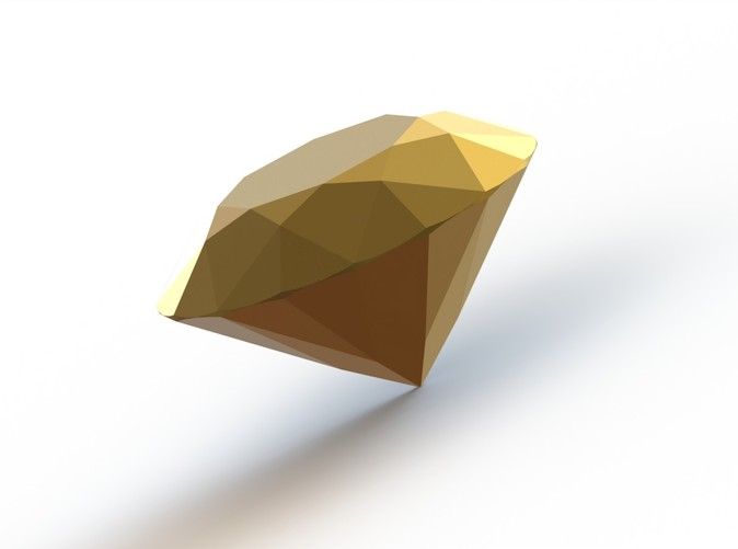 """1 carat Gold Plated Diamond to fit into """"Couture Classic Four Claw Ring"""""""